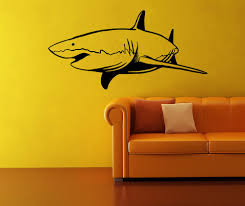vinyl wall decal sticker swimming shark os mb953