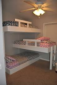 4 Bed Bunk Bed Bedroom Bunk Beds For Small Rooms With Colorful Themes