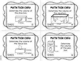 common core task cards 5th grade 5 md 5 volume and additive volume