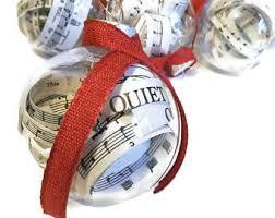 sheet music ornament etsy