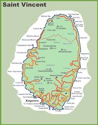 map of st map of vincent island