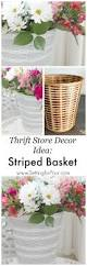 thrift store diy home decor west elm hack striped basket makeover decorating store and craft