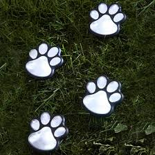 solar lights solar led paw print garden lights