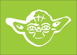 Star Wars Room Decor Etsy by Star Wars Yoda Silhouette For Nursery Boys Room 5x7