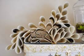 flower decoration made out of old magazine papers interestings