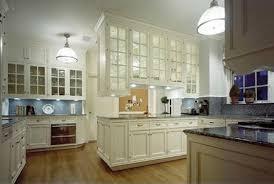 Glass Upper Cabinets White Kitchen