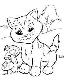 cool inspiration kitten coloring pages free printable for kids