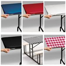 elastic plastic table covers rectangle impressive fitted plastic tablecloths stay put 6 my paper shop