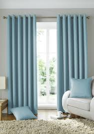 Duck Egg Blue Blind Solitaire Ready Made Eyelet Curtains Free Uk Delivery Terrys