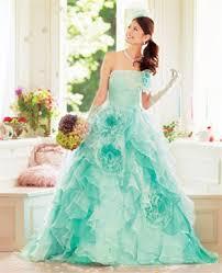 aqua wedding dress would never wear it but cute future wedding