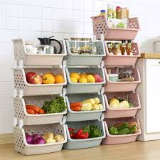 vegetable storage kitchen cabinets 1pc stackable storage basket plastic storage baskets kitchen snacks vegetable basket bathroom shelves wish