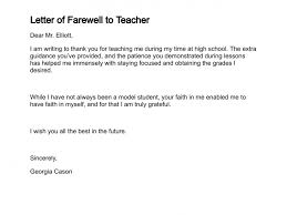 letter of farewell