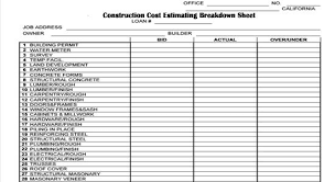 house construction cost estimator 28 images of home building estimate template infovia net