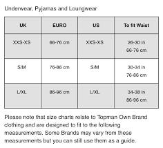 shoe size chart topshop size guide underwear topman