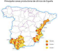 Map Of Spain Regions by Spain U0027s Juice Industry Cranks Up With New Citrus Harvest Eurofresh