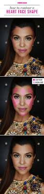 how to contour if you have a heart face shape