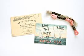 Wedding Postcards Diy Embroidered Save The Date Wedding Postcards Salty Canary