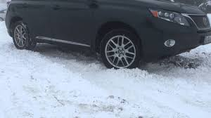 lexus rx400h winter tires lexus rx450h in snow youtube