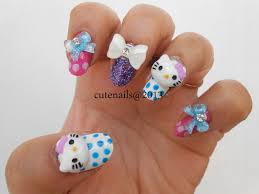 hello kitty 3d nail art how you can do it at home pictures