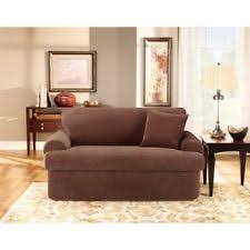 2 Piece Stretch Sofa Slipcover Sure Fit Contemporary Slipcovers Ebay