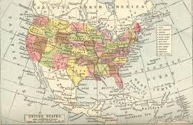 map of the united states showing states and cities map of the united states america also showing much canada
