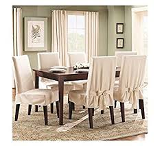 Sure Fit Stretch Pique Shorty Dining Room Chair Slipcover Slipcover Dining Room Chair Interior Design