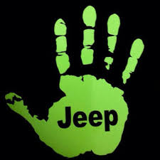 jeep wave sticker mirror jeep wave custom decal from monkeygripsparacord on etsy jeep