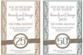printable wedding anniversary invitation cards yaseen for