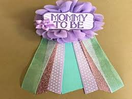 baby shower ribbon baby shower ribbon corsage