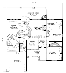 craftsman style house plan 4 beds 2 baths 2083 sq ft plan 17