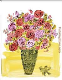 basket of flowers andy warhol basket of flowers painting anysize 50 basket of