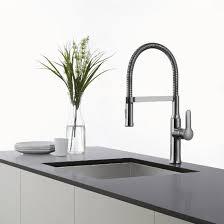 commercial style kitchen faucet kraus nola single lever flex neck commercial style kitchen faucet