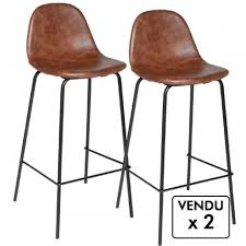 chaise bar industriel beau chaise bar industriel lot de 2 chaises de bar style industriel