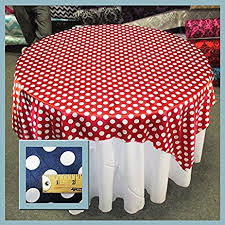 red white polka dot table covers amazon com table overlay polka dot charmeuse 1 inch 58x58 inches
