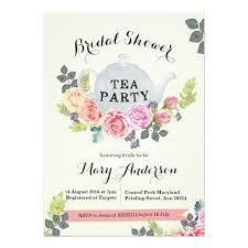 tea party bridal shower invitations floral tea party bridal shower invitation zazzle