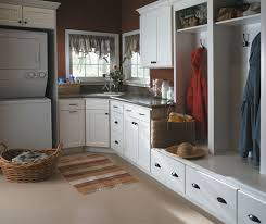White Laundry Room Cabinets White Beadboard Cabinets In A Laundry Room Homecrest