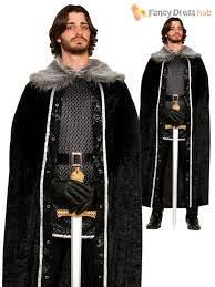 halloween costume with cape mens game of thrones fur cloak cape jon snow medieval fancy dress