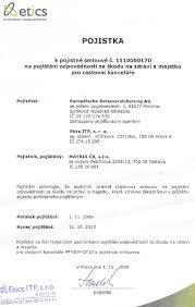 Legal Representative Authorization Letter by Documents Matrix Group