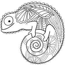 Coloriage Mandala Caméléon a Imprimer Gratuit