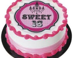 Cake Decorating Supplies Ontario Sweet 16 Cake Topper Etsy