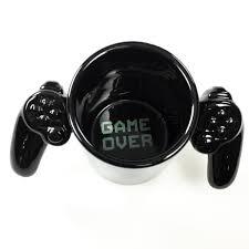 game over video game controller ceramic mug gamer coffee mugs