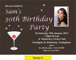 personalised party invitations party invites 18th 21st 30th any