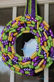 mardi gras wreaths mardi gras glitter ribbon wreath shes kinda crafty