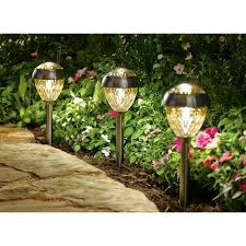 Solar Powered Landscape Lights Better Homes And Gardens 6 Park View Solar Powered Landscape