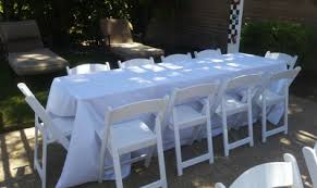 Party Tables Linens - 8 ft rectangular tables for rent wedding tables banquet tables