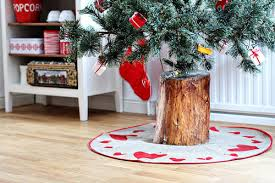 log tree stand for trees popsugar home