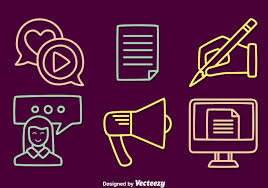 content creator vector icons download free vector art stock