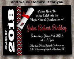 8th grade graduation invitations 8th grade graduation etsy