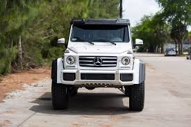 lifted mercedes white mercedes g class gets a lift kit and other custom parts
