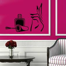 online get cheap nail salon glass wall decor aliexpress com
